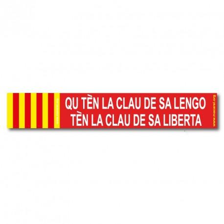 Sticker Qu tèn la clau de sa lengo tèn la clau de sa liberta (Whoever holds the key of his tongue holds the key to his freedom)