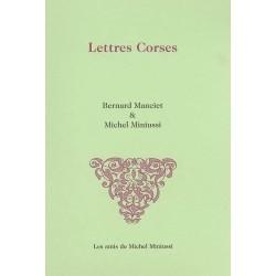 Lettres corses - Michel Miniussi - Couverture
