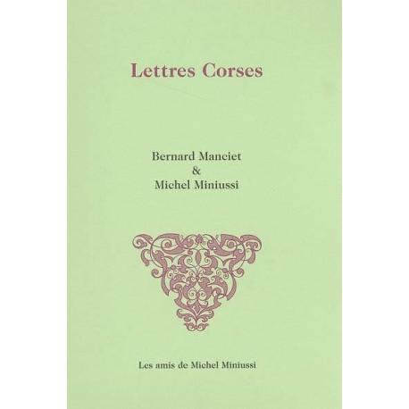 Lettres corses - Michel Miniussi