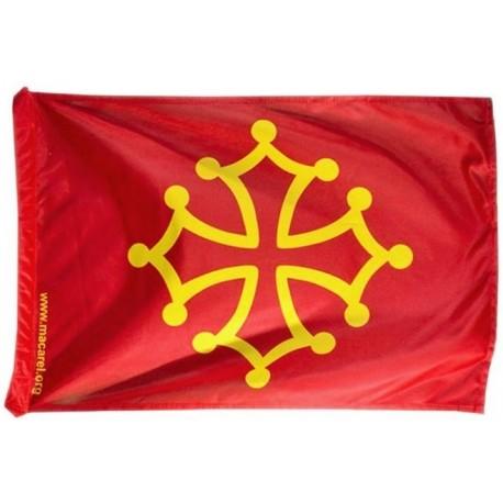 Drapeau occitan (rouge sang et jaune or) - Polyester 40 x 60 cm.