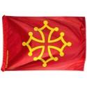 Drapeau occitan (rouge sang et jaune or) -Polyester 40 x 60 cm
