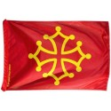 Occitan flag (red blood and gold) - Polyester 40 x 60 cm