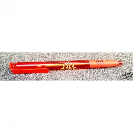 Stylo croix occitane (stylo à bille occitan, en plastique rouge)