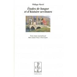 Études de langue et d'histoire occitanes - Philippe Martel