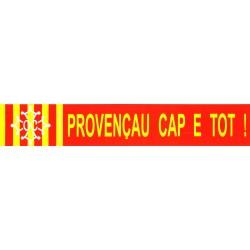 "Autocollant ""Provençau Cap e Tot !"" - Provençal de la tête au pieds, en occitan"