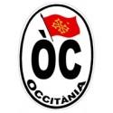 Autocollant ÒC ovale pour voiture - 9,5x13 cm