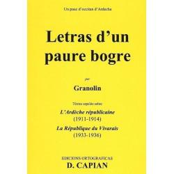 Letras d'un paure bogre - Denis Capian