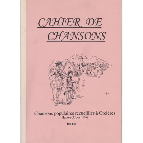Cahier de Chansons - Orcières (Hautes-Alpes) - 1996