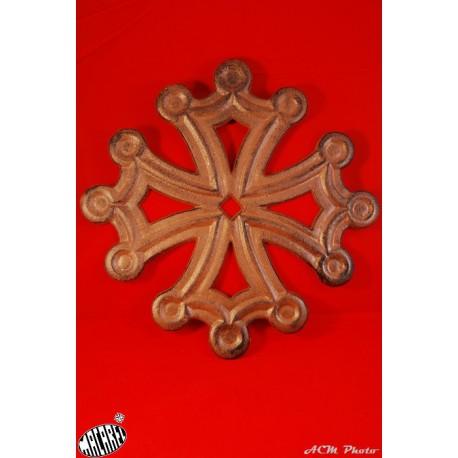 Dessous de plat Croix Occitane (fonte marron)