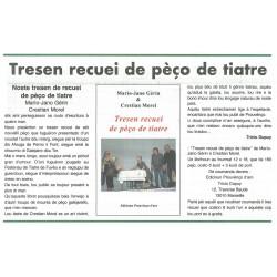 Tresen recuei de pèço de tiatre - Marìo-Jano Gérin e Crestian Morel - Article Prouvenço d'aro 361 de 01-2020