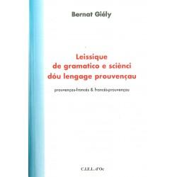 Leissique de gramatico e sciènci dou lengage prouvençau - Bernat Giély