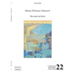 Des mots en hiver - Henri Etienne Dayssol
