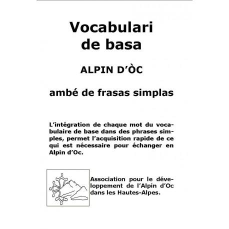 Vocabulari de basa Alpin d'Oc ambe de frasas simplas