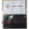 Washable protective mask with Occitan cross and text Parli occitan !
