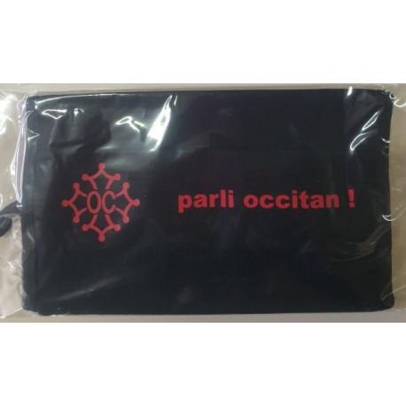 """Masca de proteccion a crotz occitana """"parli occitan !"""" (coton)"""