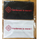 Washable protective mask with Occitan cross and text Gardarem lo moral !