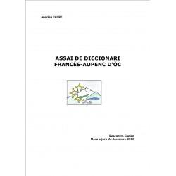 Assai de Diccionari Francés-Aupenc d'Òc