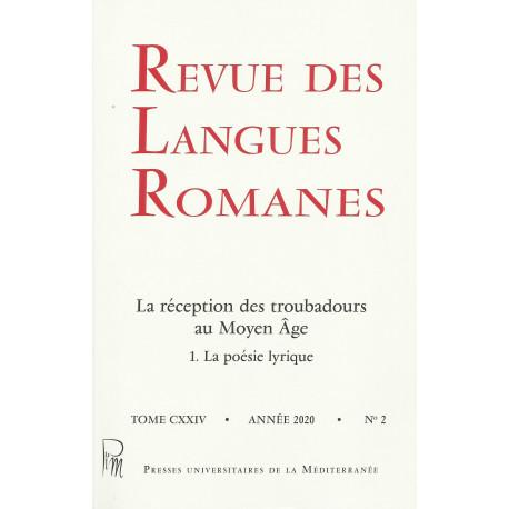 Revue des Langues Romanes - Tome 124-2 (2020 n°2)