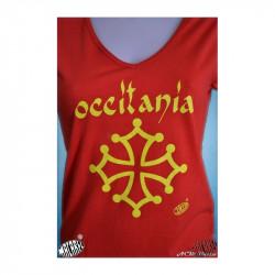 T-shirt Occitània calligraphie (femme)