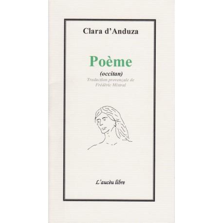 Poème (occitan) - Clara d'Anduze - Traduction provençale de Frédéric Mistral. L'Aucèu Libre.