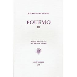 Pouèmo III - Mas-Felipe Delavouët