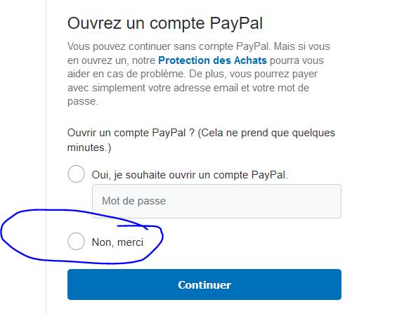 Ne pas ouvrir un compte Paypal
